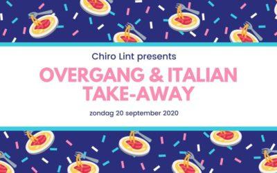 Overgang + Italian Take-away 20/09